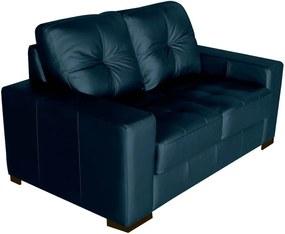 Sofá 2 Lugares Sala de Estar 150cm Milão Couro Azul - Gran Belo