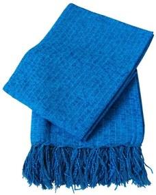Xale De Sofá De Tear Em Chenile 1,80 X 1,20 Azul