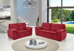 Conjunto de Sofá Ferrari 3 e 2 Lugares Tecido Suede Amassado Vermelho - Hellen