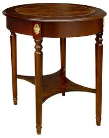 Mesa de Apoio George III Madeira Maciça Marchetaria Design Clássico