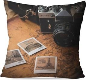 Almofada Avulsa Decorativa Fotos Retro 45X45cm Love Decor