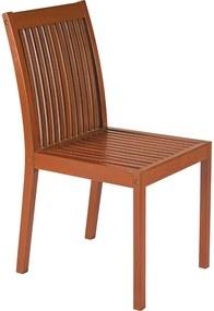 Cadeira sem braços Fitt Fixa de Madeira - Terrazzo Fitt - Cor Marrom - Tramontina