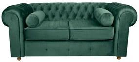 Sofá Chesterfield 02 Lugares 1.80 Veludo Garden Green - Wood Prime 33502