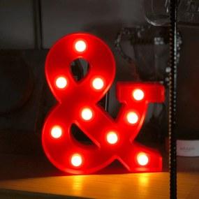 Luminária Letra Led & - E Comercial Vermelho