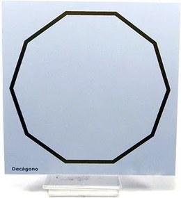 Placa Radiônica Decágono (PVC)