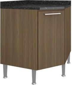 Armário de Cozinha Canto Oblíquo 1 Porta 0879 Castanho - Genialflex
