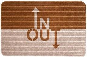 Capacho Carpet In Out Marrom Único Love Decor