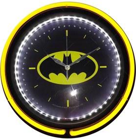 Relógio de Parede DC Logo Batman Amarelo e Preto Double Neon - Urban