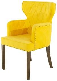Cadeira de Jantar Estofada Matelassê com Tachas  - Wood Prime PP 33295