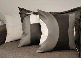 Kit 3 Almofadas Courino Bege e Geométricas - SHOW ROOM