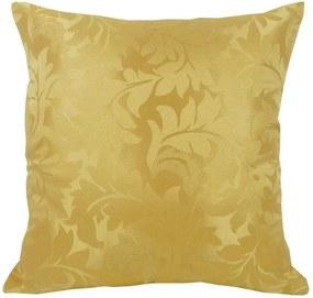 Capa de Almofadão em Jacquard Arabescos Dourado 60x60cm