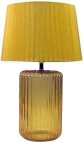 Luminária de Mesa Big Bottle Base Amarela em Vidro e Metal - Urban