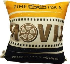 Capa de Almofada Cinema Movie 40x40cm Cosi Dimora