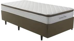Cama Box Solteiro Herval Lemon Plus, Molas Bonnel, 88 cm