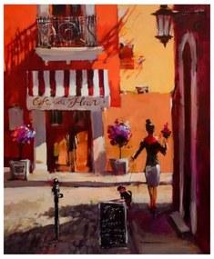 Quadro Decorativo Café em Paris - KF 49800 40x60 (Moldura 520)