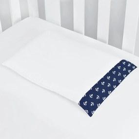 Jogo De Fronha Laura Baby Estampado Marinheiro Azul Marinho