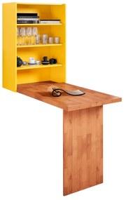 Mesa Dobrável de Parede Amarela  - Wood Prime MP 33212