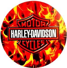 Placa Harley Fire Redonda