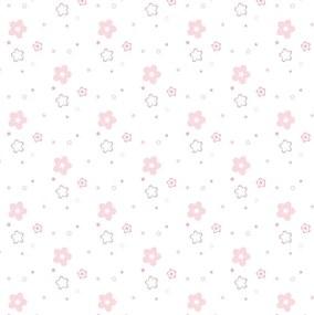 Papel de Parede Floral Rosa Infantil Adesivo 2,70x0,57m