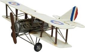 Enfeite Retrô Minas de Presentes Avião Branco