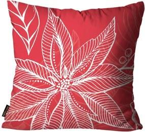 Capa para Almofada Mdecore Natal Flor Vermelha 45x45cm