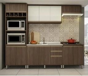 Cozinha Compacta 11 Portas 3 Gavetas Atenas Delmarco