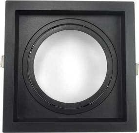 Embutido AR111 Quadrado Recuado Direcional Preto GU10 - Save Energy - SE-330.1068