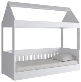 Cama Infantil com Telhado KD1640 Branco - Quiditá