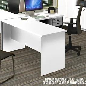 Mesa Para Computador Escrivaninha 150cm Eco Branco - Fit Mobel