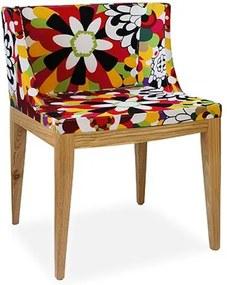 Cadeira Decorativa com Base Madeira Clara, 1135A, Senhorita