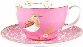 Xícara de Chá com Pires Rosa Early Bird PIP Studio