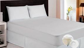 Protetor Para Colchão Solteiro Microfibra Impermeável Branco