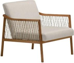 Poltrona Acaé madeira eucalipto e corda Design by Adriano Santos