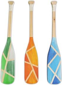 Remos em Madeira Decorativos Soul Fins Kit com 3 Peças