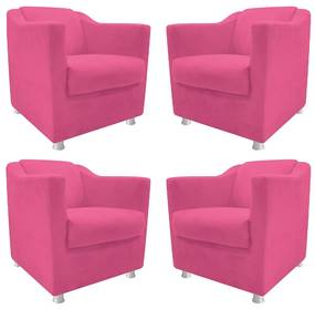 kit 04 Poltronas Decorativas Tilla Corano Pink - ADJ DECOR