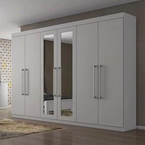 Guarda-roupa Berenice C/ 2 Portas Espelhadas 100% MDF Branco