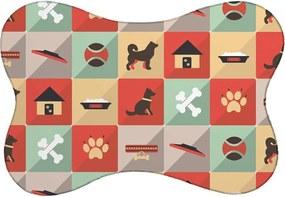 Tapete Mdecore PET Cachorro Colorido 46x33cm