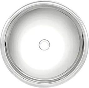 Lavabo Tramontina Redonda em Aço Inox Alto Brilho 38 cm Tramontina 94105207