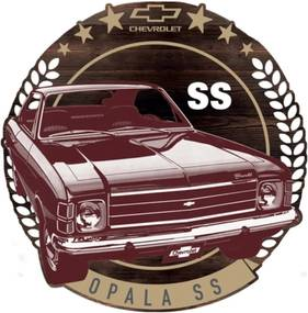 Placa Decorativa de Madeira Chevrolet Opala Urban Home