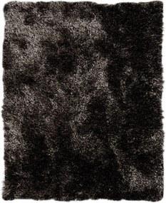 Tapete Shaggy Peludo Negresco Fio de Seda - 1,40 x 1,00m