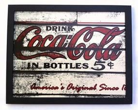 Quadro Retangular Coca Cola