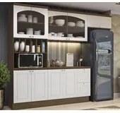 Cozinha Modulada 05 Peças Provenzza CB367 Jacarandá/Branco Kappesberg