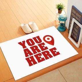 Tapete de Porta, You Are Here - 40x60cm
