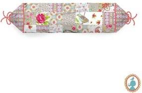 Almofada Rolo Patch - Chinese Blossom Cáqui