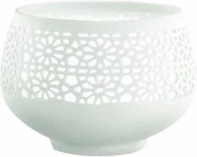 porta vela de porcelana THAII 7cm Mart 4435