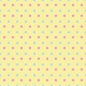Papel De Parede Adesivo Poá Estrelas Azul Rosa Amarelo 829325323