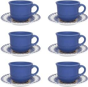 Jogo de Xícaras Chá/ Café c/ Leite 200 ml La Carreta Oxford
