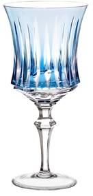 Taça de Cristal Lapidado Artesanal p/ Vinho Tinto - 66 - Azul Claro  66 - Azul Claro