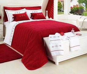 Cobre Leito Casal Queen Dolce 100% Algodão Kit 18 Peças - Vermelho Vermelho