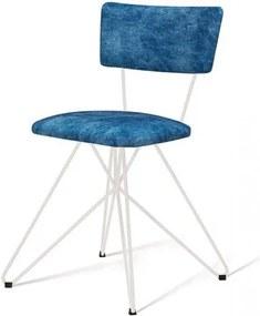 Cadeira Pop Azul Base Estrela Branca - 49563 Sun House